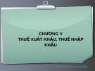 Thuế xuất nhập khẩu - Nguyễn Thu Hằng