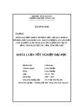 Đề tài  tốt nghiệp: Đánh giá hiện trạng sử dụng đất, lập quy hoạch sử dụng đất giai đoạn 2011 – 2020 và phương án giao đất lâm nghiệp có sự tham gia c ủa người dân tại xã Bằng Thành, huyện Pác Nặm, tỉnh Bắc Kạn