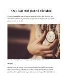 Quy luật thời gian và sức khỏe