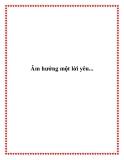 Truyện ngắn Âm hưởng một lời yêu