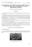 """Báo cáo """"ảnh hưởng của chất điều hào sinh trưởng thực vật lên sự phát sinh chồi và rễ phong lan giã hạt Dendrobium Anosmum """""""