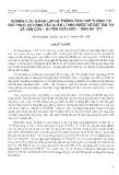 """Báo cáo """"Nghiên cứu thành lập hệ thống tích hợp thông tin đất phục vụ công tác quản lí nhà nước về đất đai tại xã Vân Côn - Huyện Hoài Đức - Tỉnh Hà Tây """""""