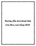 Hướng dẫn download link trên Box.com bằng IDM