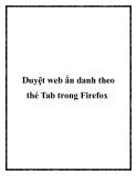 Duyệt web ẩn danh theo thẻ Tab trong Firefox