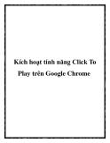 Kích hoạt tính năng Click To Play trên Google Chrome
