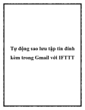 Tự động sao lưu tập tin đính kèm trong Gmail với IFTTT