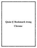 Quản lý Bookmark trong Chrome