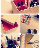 Tự làm hộp đựng sơn móng tay tiện dụng