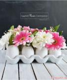 Lọ hoa xinh làm từ… trứng