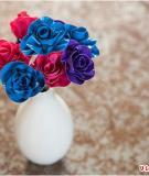 Làm hoa xinh từ… băng dính