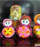Gia đình búp bê Matrioska siêu dễ thương