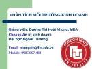 Bài giảng Phân tích môi trường kinh doanh - GV.Dương Thị Hoài Nhung