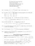 Đề thi đại số tuyến tính: Đề 9