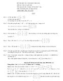 Đề thi đại số tuyến tính: Đề 8