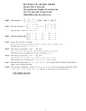Đề thi đại số tuyến tính: Đề 4