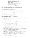 Đề thi đại số tuyến tính: Đề 6