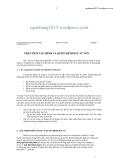 Phân tích tài chính và quyết định đầu tư vốn - Bài giảng 7
