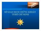 Bài giảng Sở giao dịch chứng khoán TP.Hồ Chí Minh