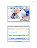Bài giảng: Chi phí sử dụng vốn - ThS.Trần Bá Vinh