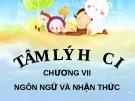 Bài giảng Tâm lý học - Chương 7 Ngôn ngữ và nhận thức  - GV. Nguyễn Xuân Long