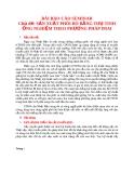 Đề tài: SẢN XUẤT PHÔI BÒ BẰNG THỤ TINH ỐNG NGHIỆM THEO PHƯƠNG PHÁP IMAI
