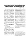 """Báo cáo """"Những vấn đề xã hội nổi bật của Liên minh Châu Âu năm 2011 và bài học kinh nghiệm cho Việt Nam. """""""