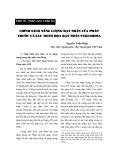 """Báo cáo """"CHÍNH SÁCH NĂNG LƯỢNG HẠT NHÂN CỦA PHÁP TRƯỚC VÀ SAU TH.M HỌA HẠT NHÂN FUKUSHIMA """""""