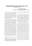 Báo cáo: Hai mươi năm quan hệ Pháp - Việt Nam (1975 – 1995) (phần tiếp theo)