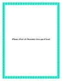 iPhone, iPad với Mountain Lion qua iCloud