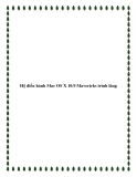 Hệ điều hành Mac OS X 10.9 Mavericks trình làng