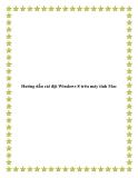 Hướng dẫn cài đặt Windows 8 trên máy tính Mac