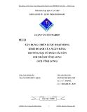Luận văn:Xây dựng chiến lược hoạt động kinh doanh của NHTMCP Sài Gòn - Vĩnh Long