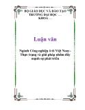 Luận văn: Ngành Công nghiệp ô tô Việt Nam Thực trạng và giải pháp nhằm đẩy mạnh sự phát triển