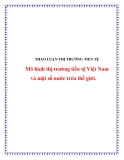 Luận văn:Mô hình thị trường tiền tệ Việt Nam và một số nước trên thế giới