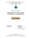 Luận văn:Phân tích hiệu quả sử dụng dịch vụ ngân hàng bán lẻ tại Sacombank Cần Thơ