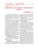"""Báo cáo """" 23  NGÔN NGỮ HỌC VÀ VIỆT NGỮ HỌC  KHỐI LIỆU – ĐẶC TRƯNG VÀ PHÂN LOẠI"""""""