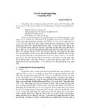 """Báo cáo """" Các kết cấu phi ngoại động trong tiếng Việt """""""