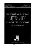 """Báo cáo """"Một số trao đổi xung quynh công tác giảng dạy tiếng Việt ở khoa Việt Nam học, Trường Đại học Chungwoon, Hàn Quốc """""""