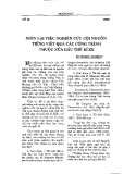 """Báo cáo """"Nhìn lại việc nghiên cứu cội nguồn tiếng Việt qua các công trình thuộc nửa đầu thế kỷ XX """""""