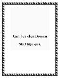 Cách lựa chọn Domain SEO hiệu quả.