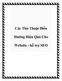 Các Thủ Thuật Điều Hướng Hiệu Quả Cho Website - hỗ trợ SEO