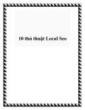 10 thủ thuật Local Seo