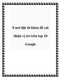 8 nơi đặt từ khóa để cải thiện vị trí trên top 10 Google