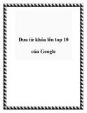 Đưa từ khóa lên top 10 của Google