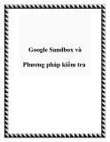 Google Sandbox và Phương pháp kiểm tra