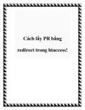 Cách lấy PR bằng redirect trong htaccess!