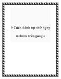 9 Cách đánh tụt thứ hạng website trên google