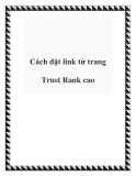 Cách đặt link từ trang Trust Rank cao