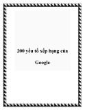 200 yếu tố xếp hạng của Google