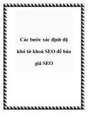 Các bước xác định độ khó từ khoá SEO để báo giá SEO